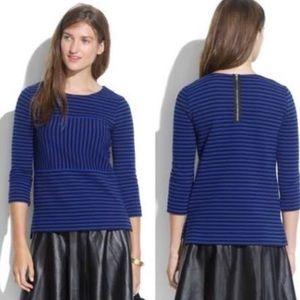 Madewell Blue Black Striped Top XS
